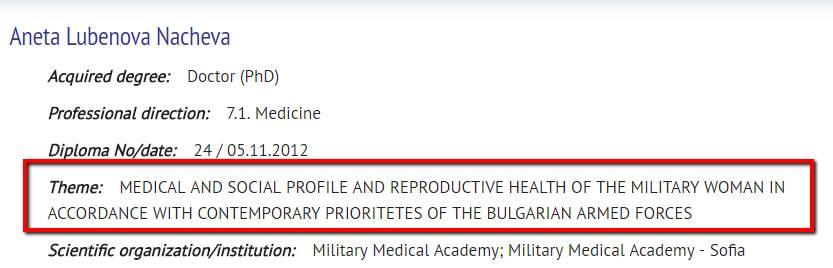 Long Dissertation Title, 7.1. Medicine